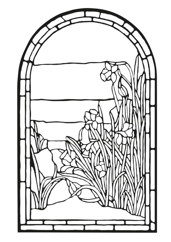 Adult Coloring Pages of Stained Glass