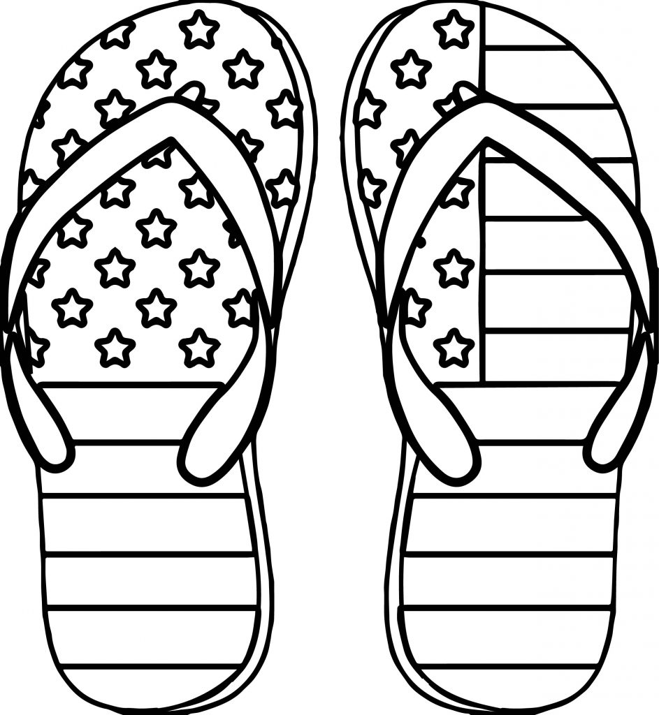 American Flag Shoes Coloring Page