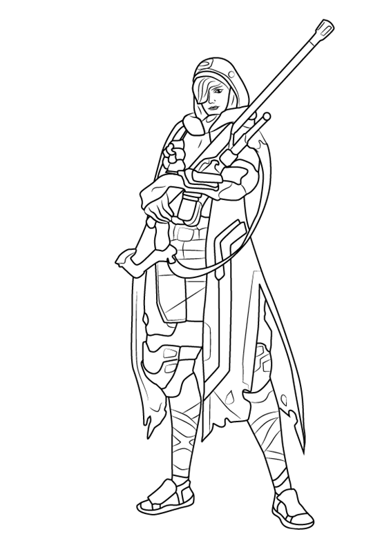 Ana - Overwatch Coloring Pages