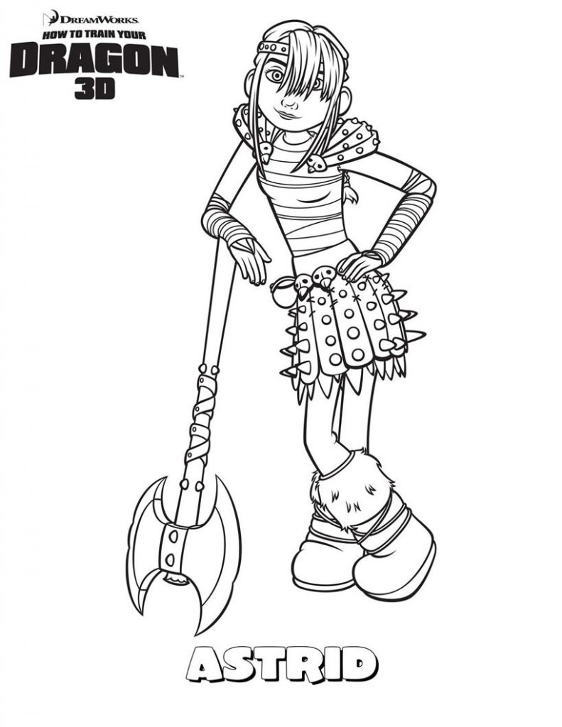 Astrid - How to Train Your Dragon Coloring Page
