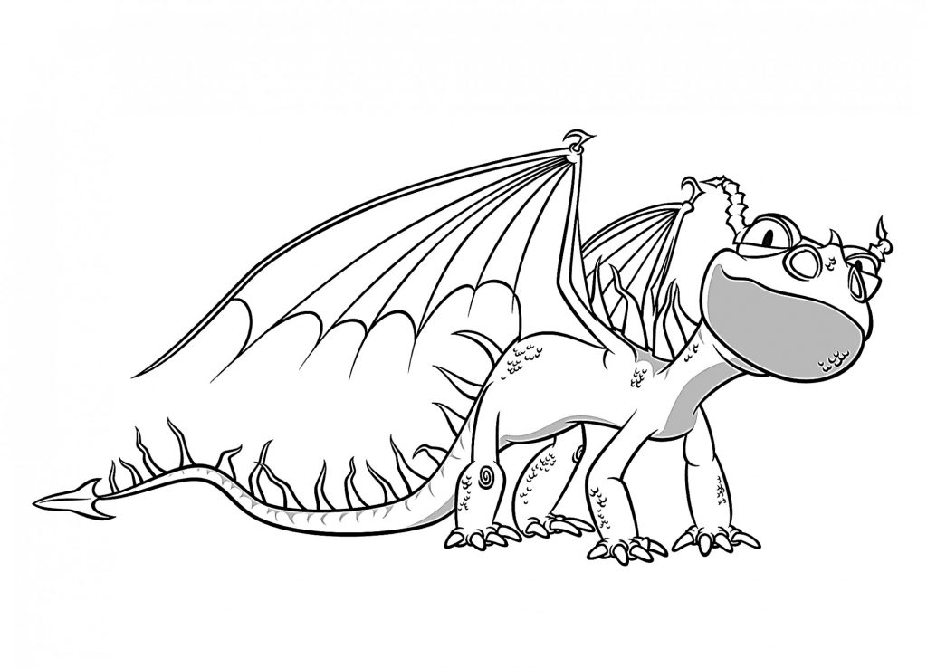 Baby Nadder - How to Train Your Dragon Coloring Page