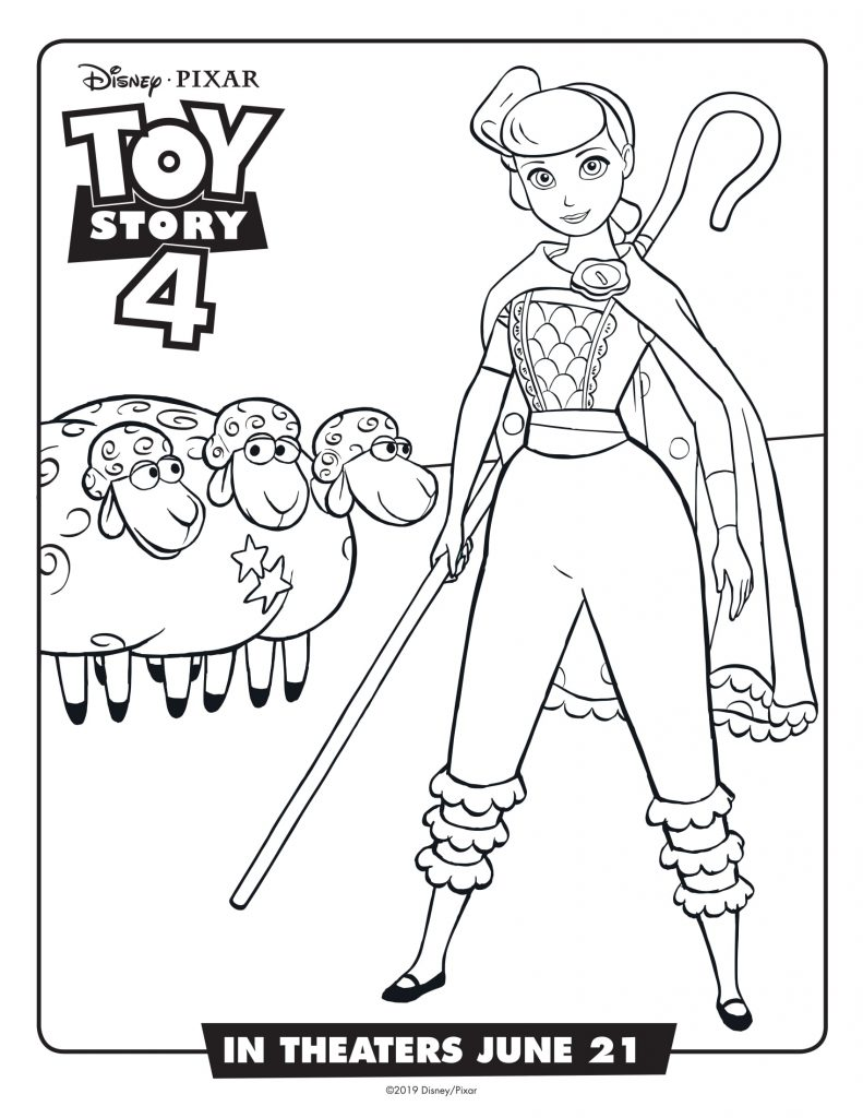 Bo Peep - Toy Story 4 Coloring Pages