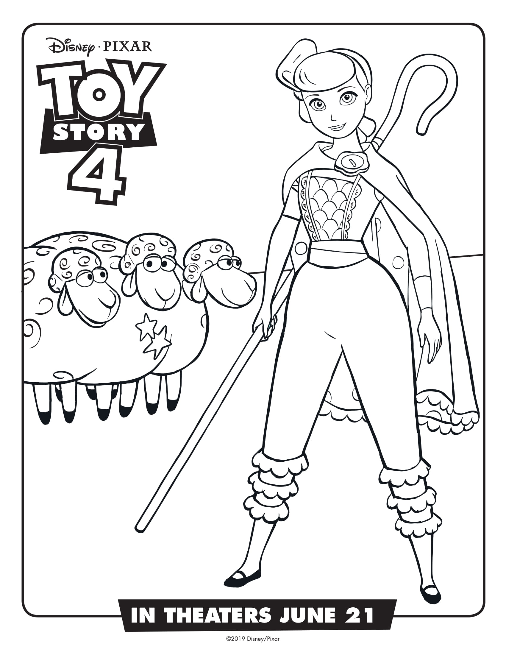 Disney Coloring Pages Toy Story 4