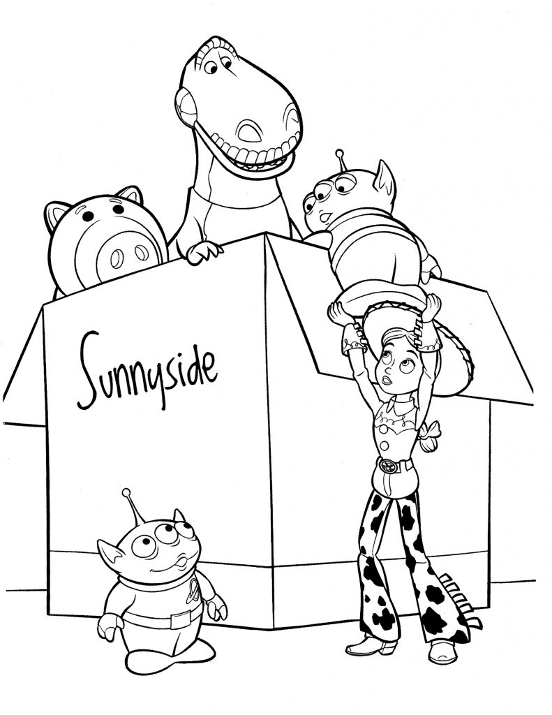 Box of Toys Toy Story 4 Coloring Pages