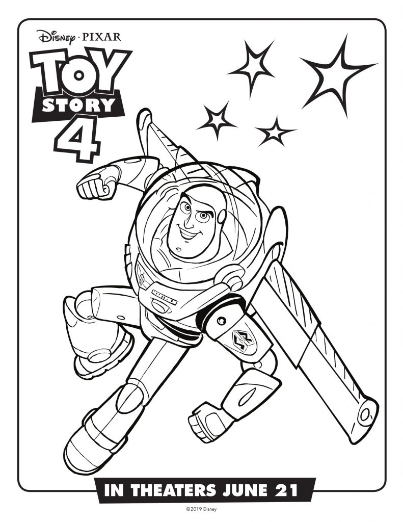 Buzz - Toy Story 4 Movie Coloring Pages