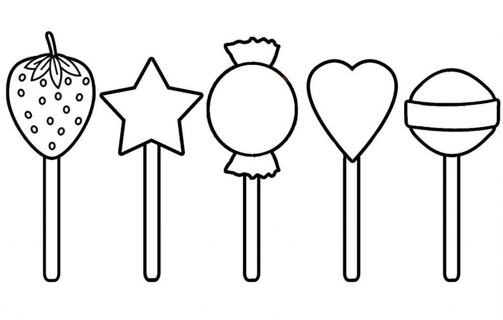 CakePops Coloring Page