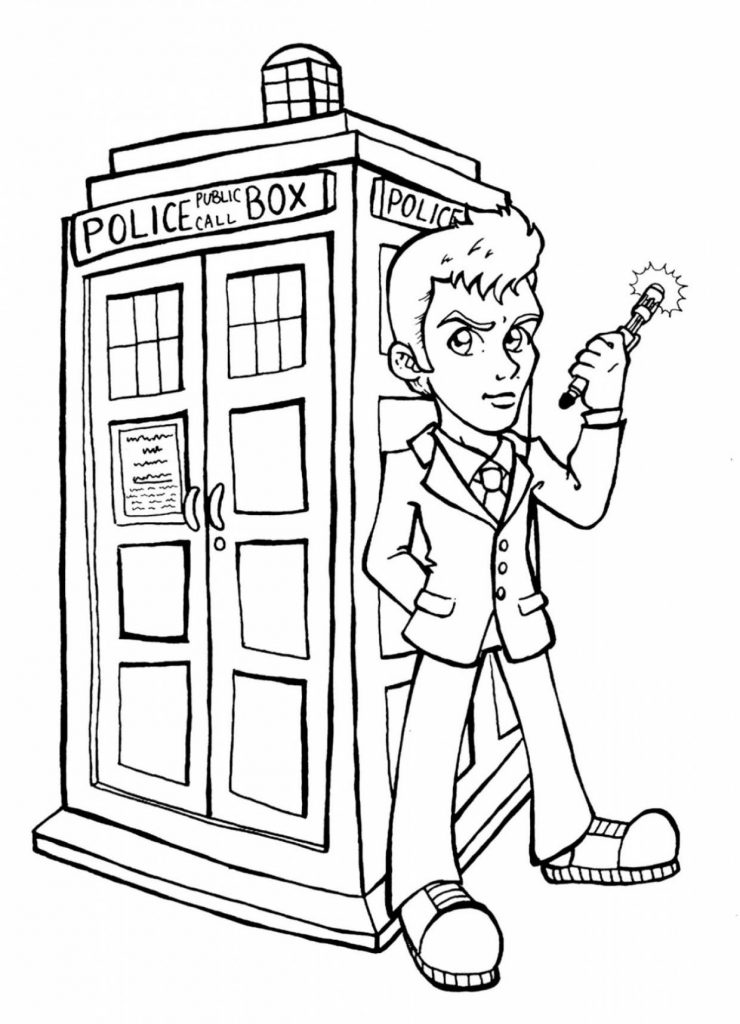 Cartoon Doctor Who Coloring Pages