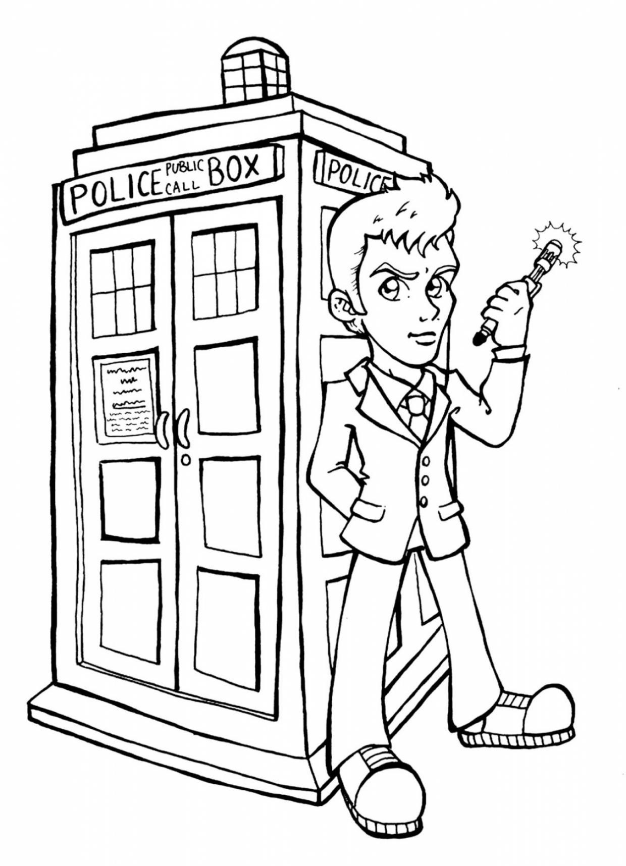 doctor who coloring pages for kids | Doctor Who Coloring Pages - Best Coloring Pages For Kids