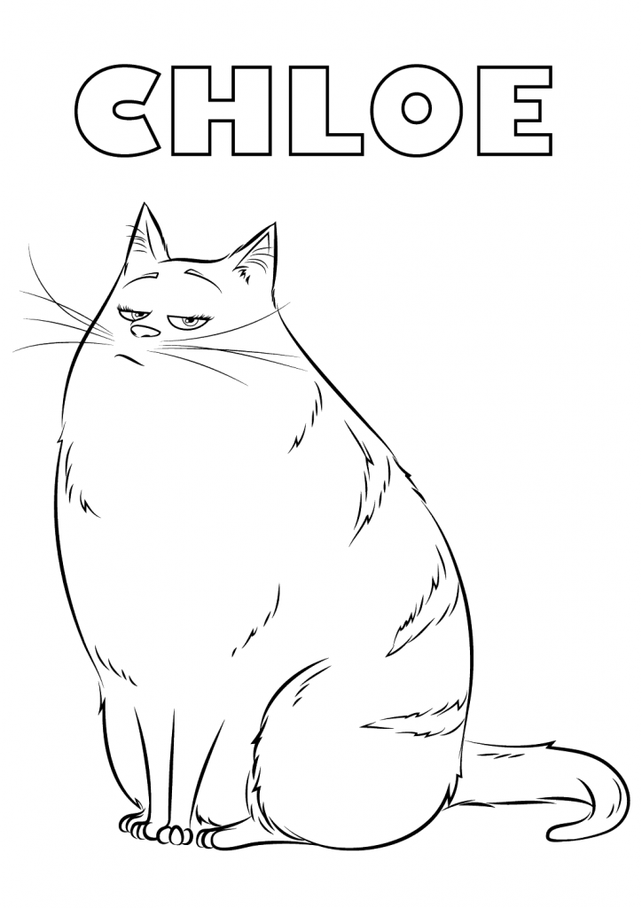Chloe The Secret Life of Pets Coloring Pages