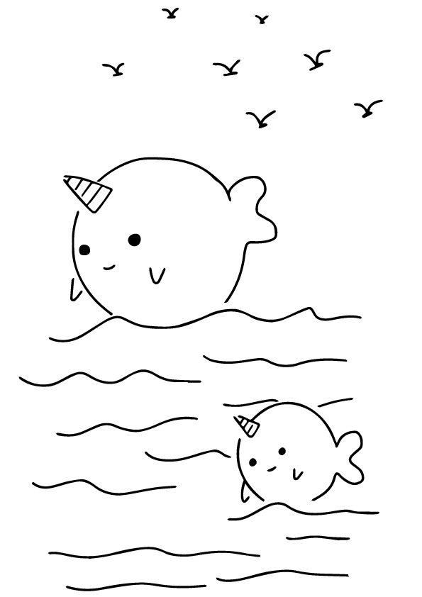 Narwhal Coloring Pages - Best Coloring Pages For Kids