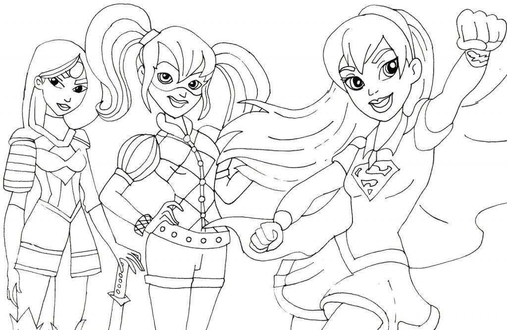 DC Kids Girl Superheroes Coloring