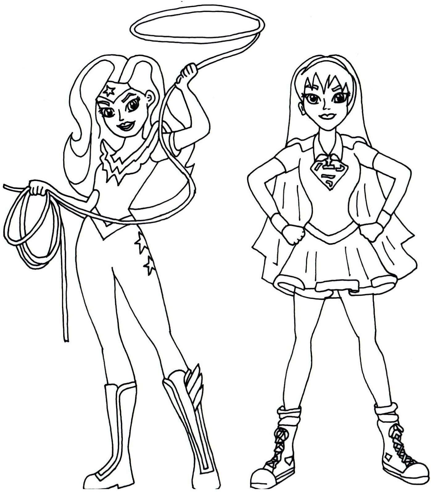 Dc Superhero Girls Coloring Pages