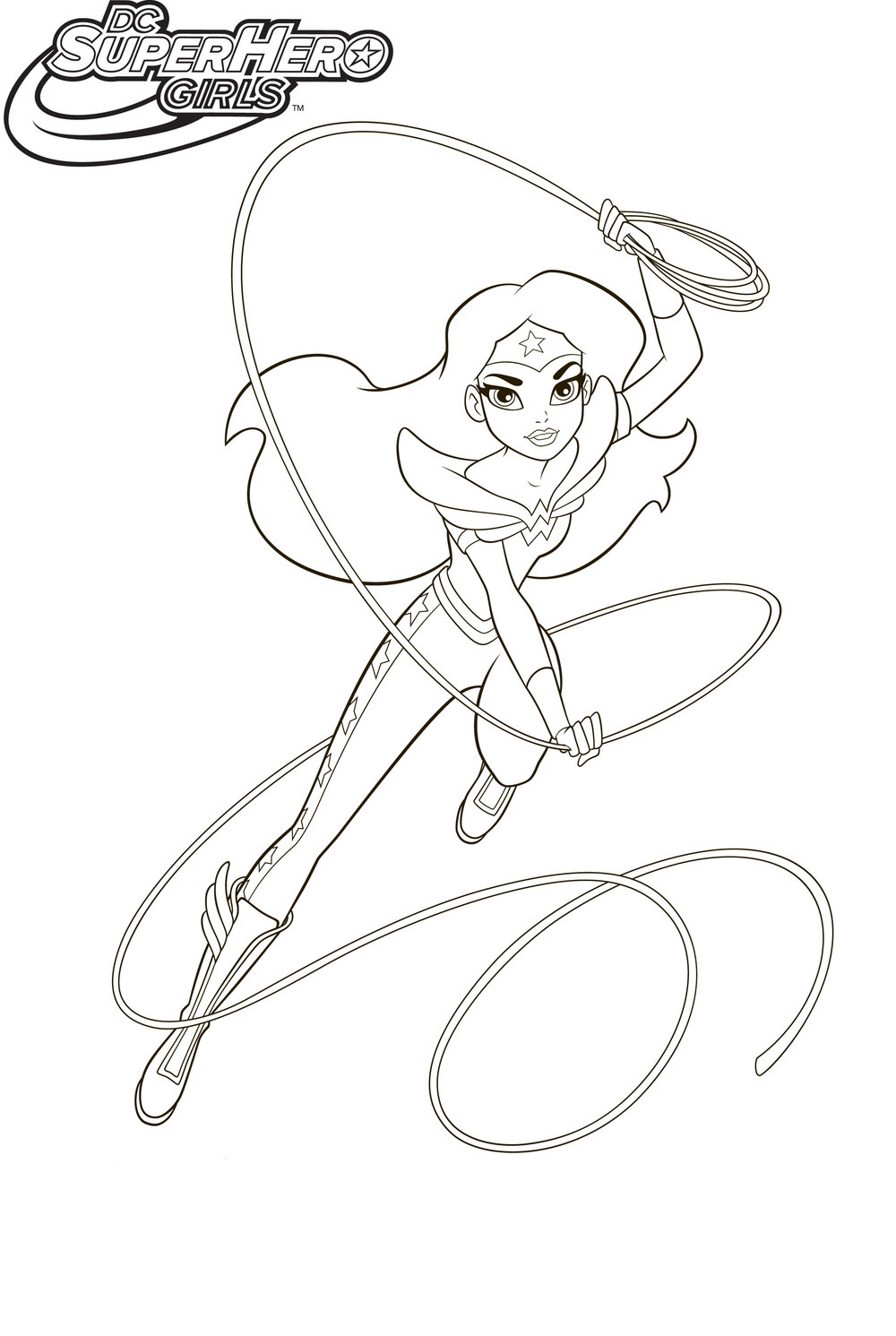 DC Superhero Girls Coloring Pages - Best Coloring Pages ...