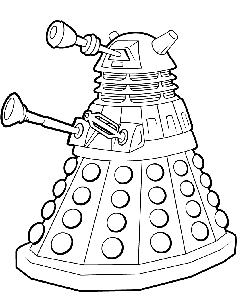 Dalek Doctor Who Coloring Pages