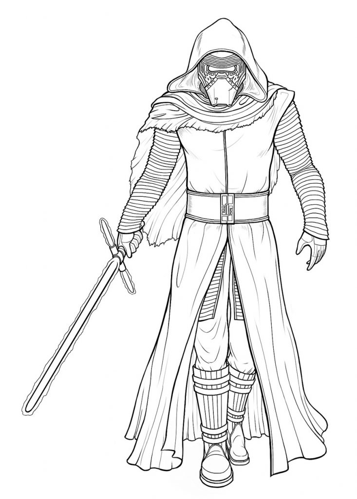 Dark Warrior Kylo Ren Coloring Pages