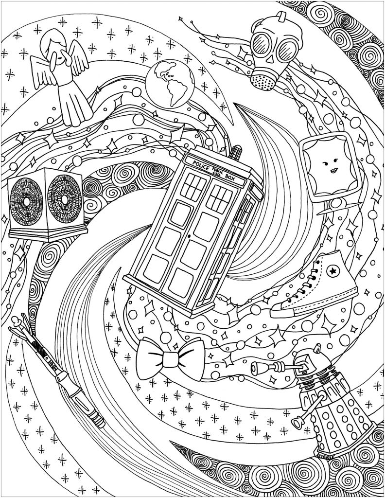 Doctor Who Coloring Page Printables