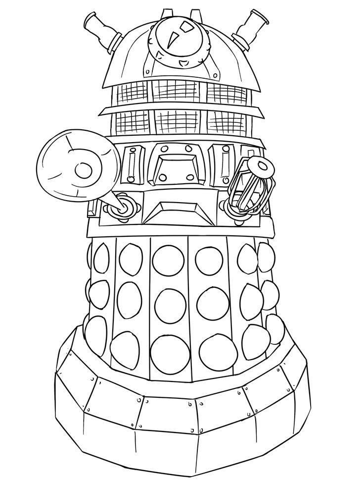 Doctor Who Dalek Coloring Page
