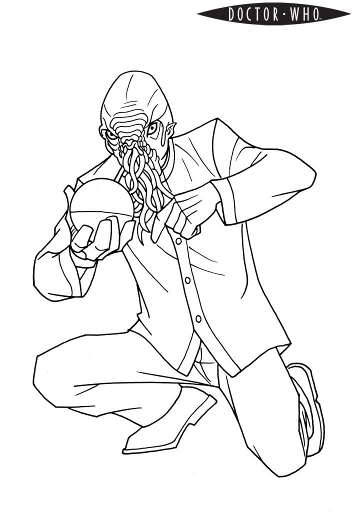Doctor Who Ood Coloring Page