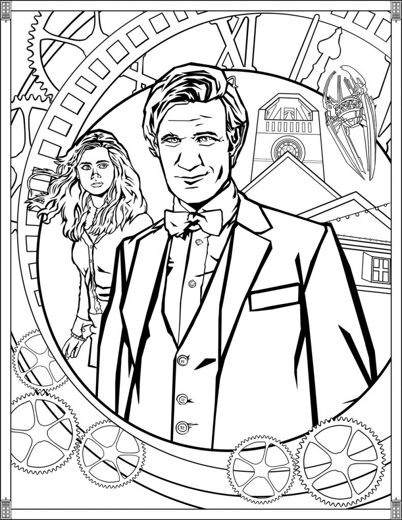 Doctor Who Printable Coloring Page