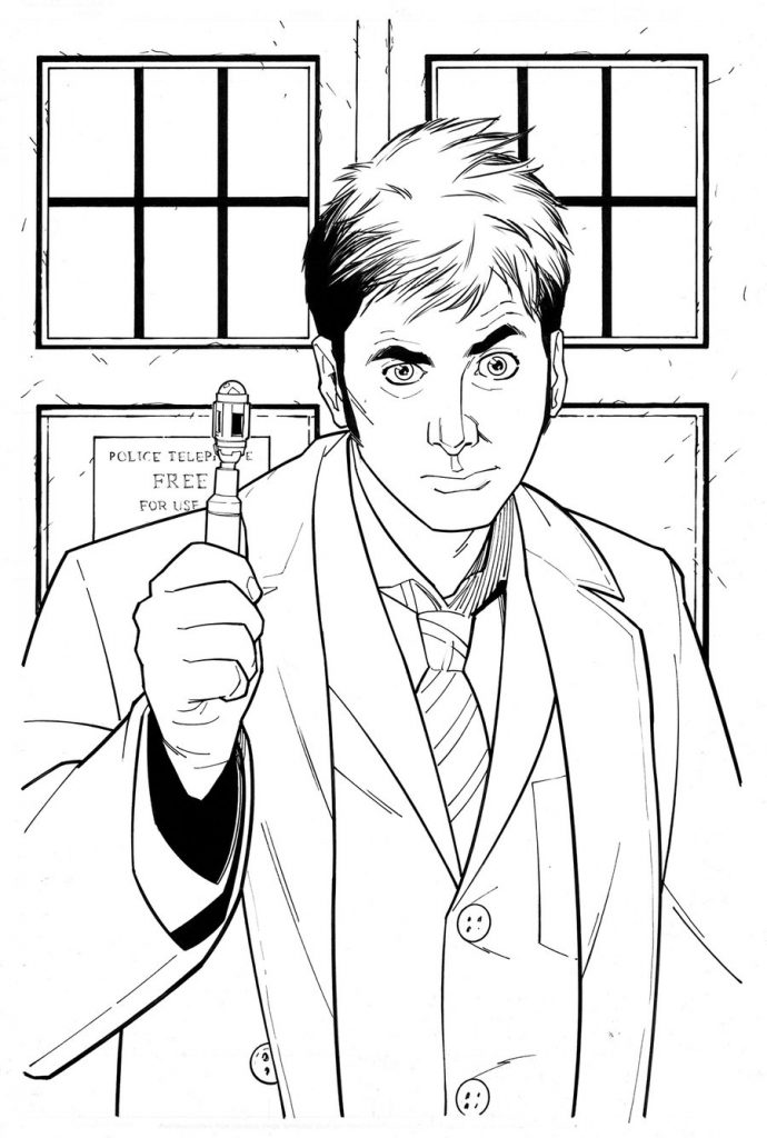 Doctor Who Printable Coloring Pages