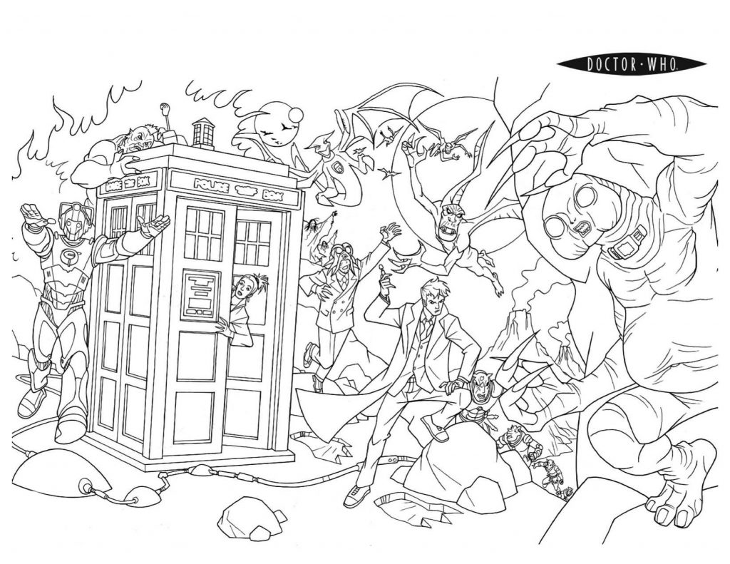 Doctor Who Scene Coloring Pages