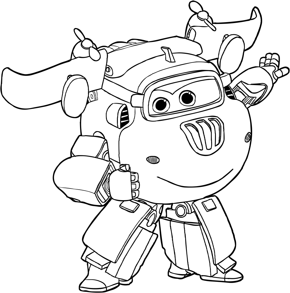 Donnie - Super Wings Coloring Pages