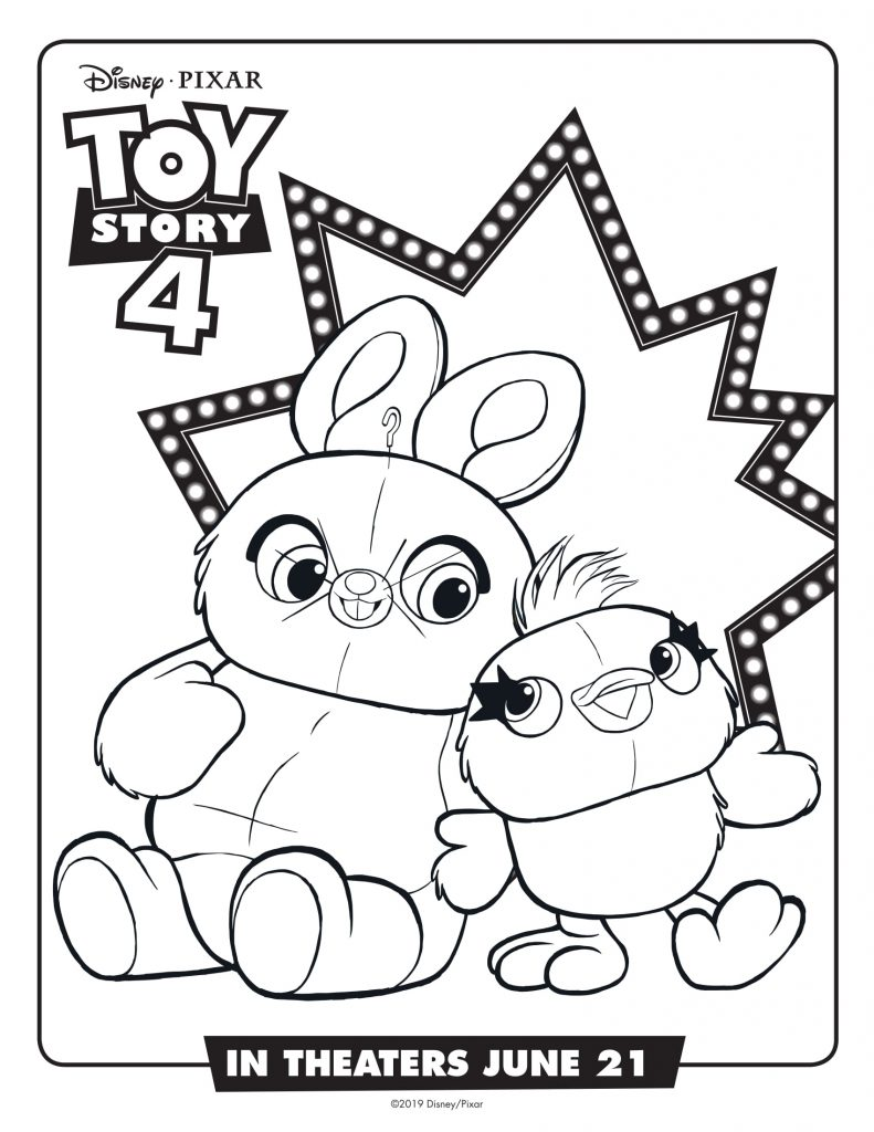 Ducky and Bunny - Toy Story 4 Coloring Pages