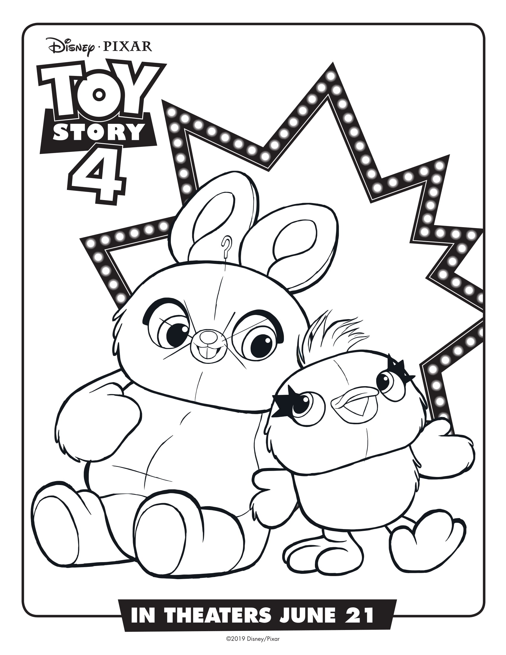 Toy Story 4 Coloring Pages Best Coloring Pages For Kids