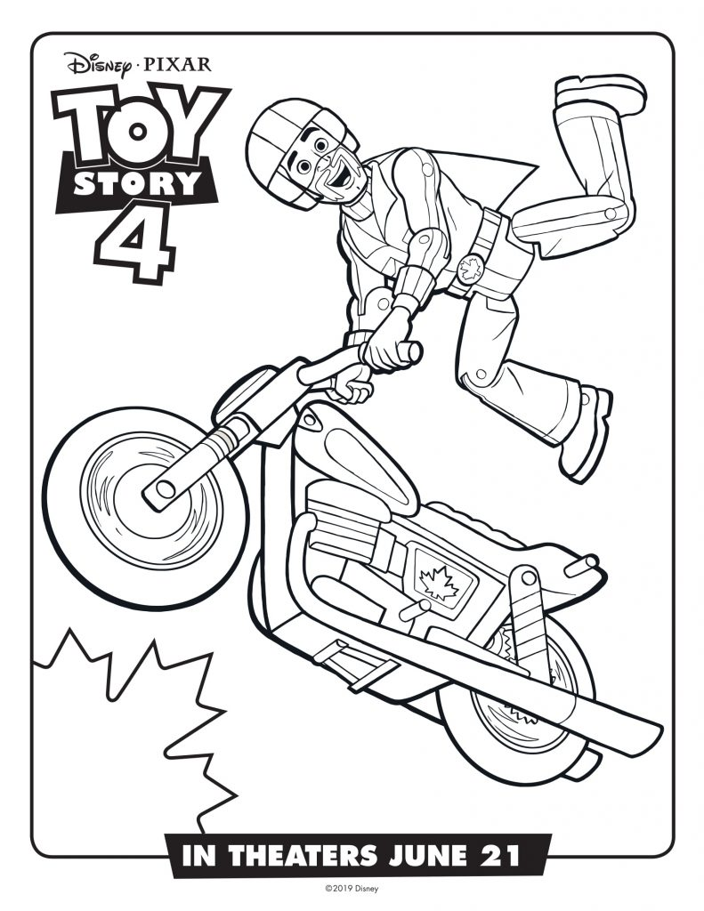Duke Caboom - Toy Story 4 Coloring Pages