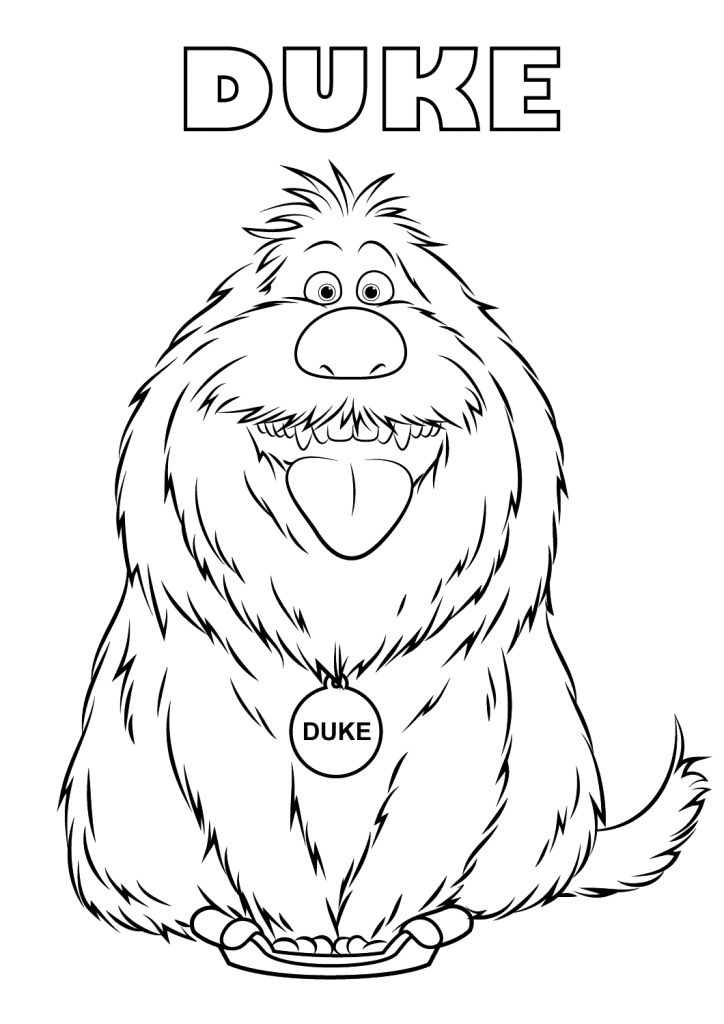 Duke The Secret Life of Pets Coloring Pages