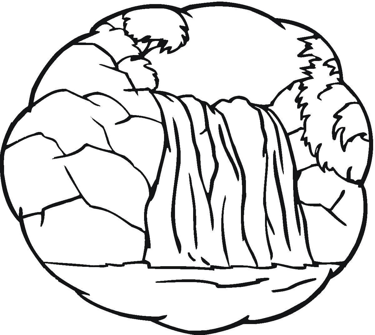 Waterfall Coloring Pages Best Coloring Pages For Kids