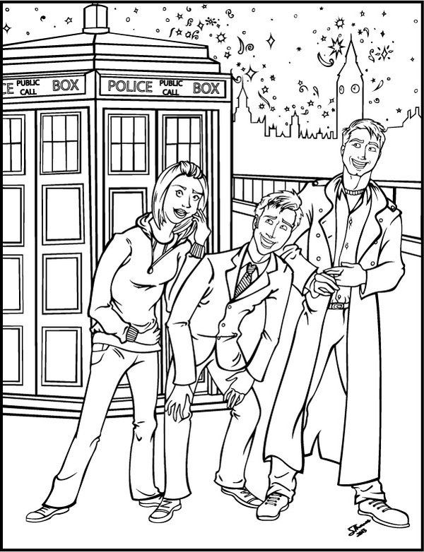Fun Doctor Who Coloring Pages