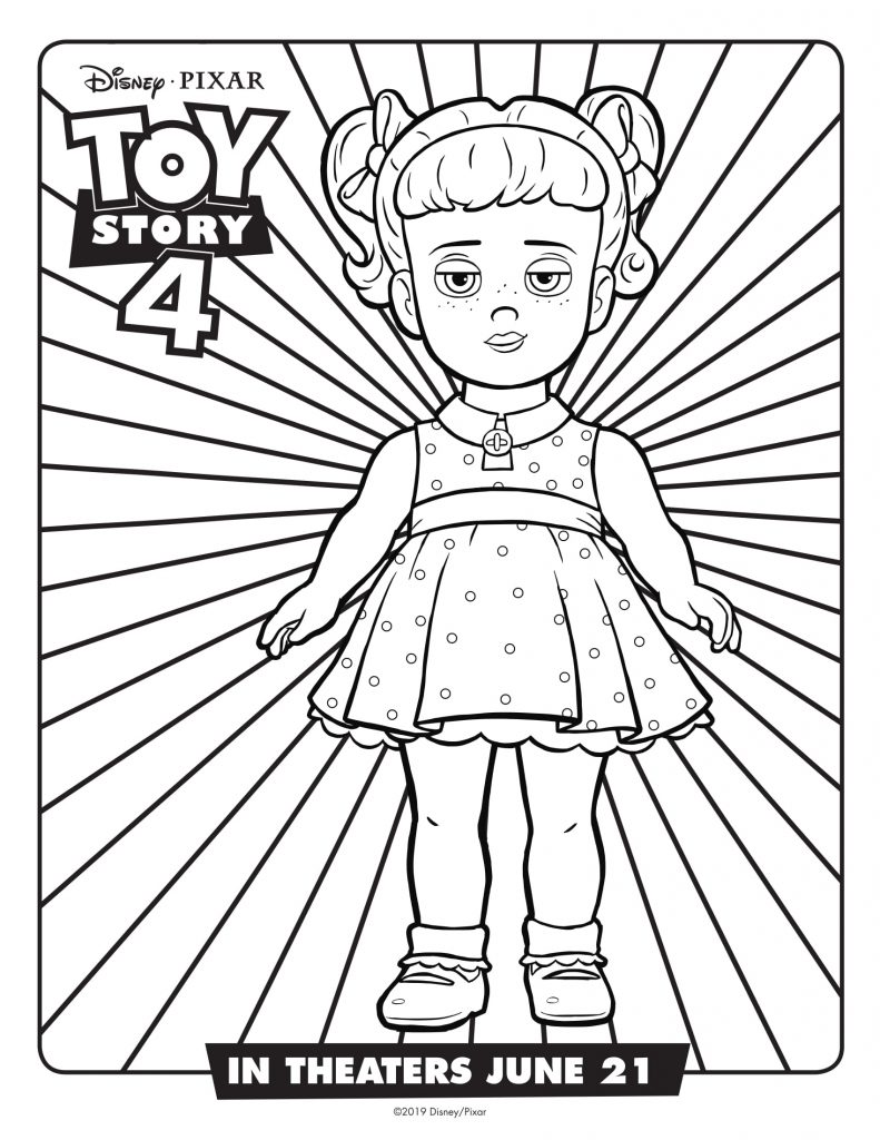 Gabby Gabby - Toy Story 4 Coloring Pages