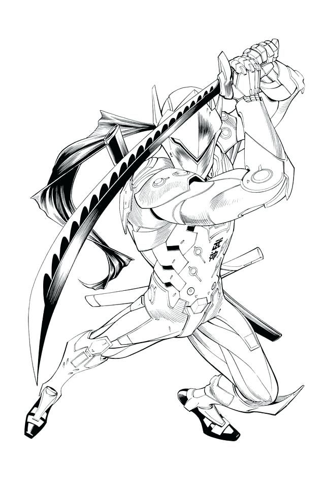 Genji - Overwatch Coloring Pages