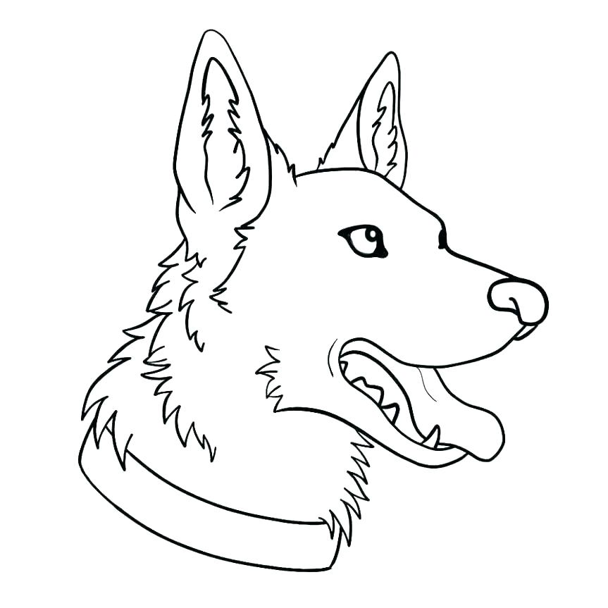 German Shepherd Coloring Pages - Best Coloring Pages For Kids