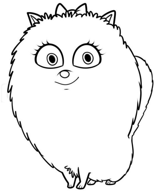 Gidget The Secret Life of Pets Coloring Pages