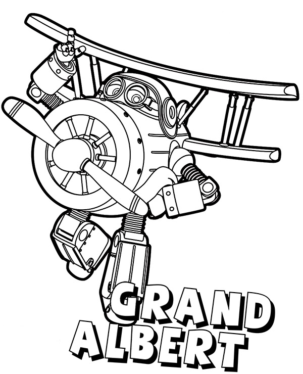 Grand Albert - Super Wings Coloring Page