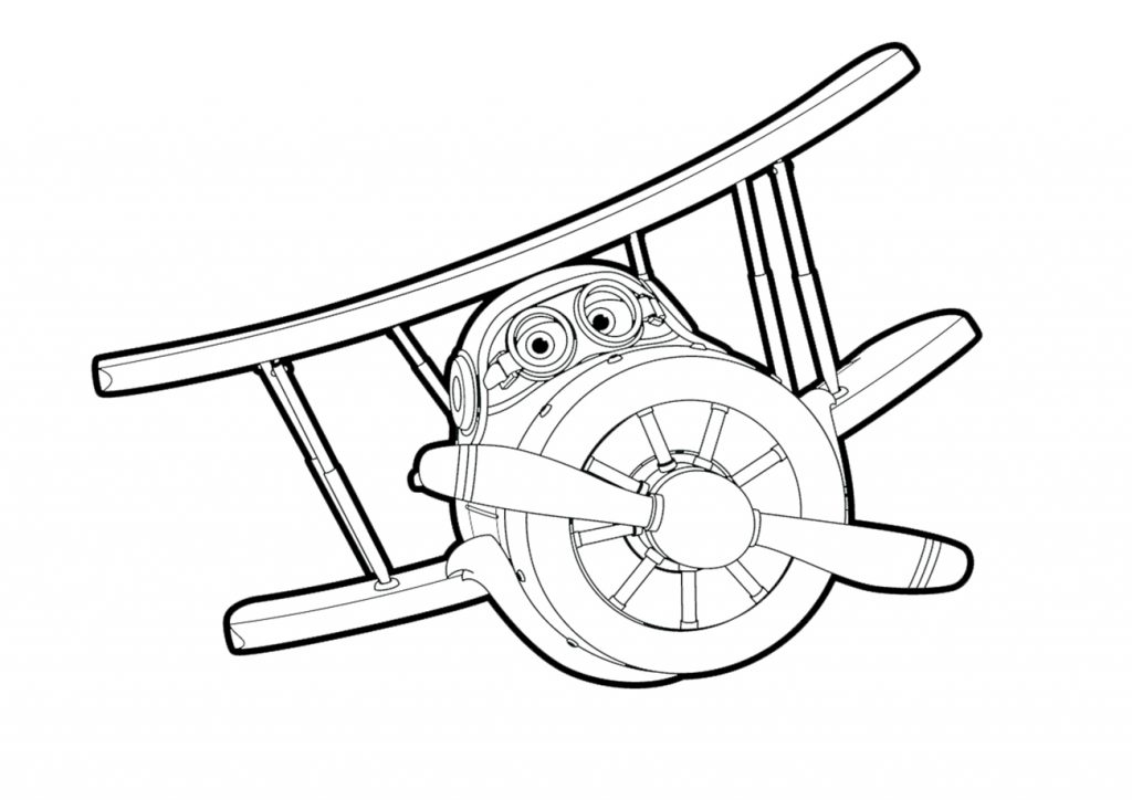 Grand Albert - Super Wings Coloring Pages