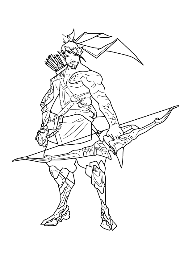 Hanzo - Overwatch Coloring Pages