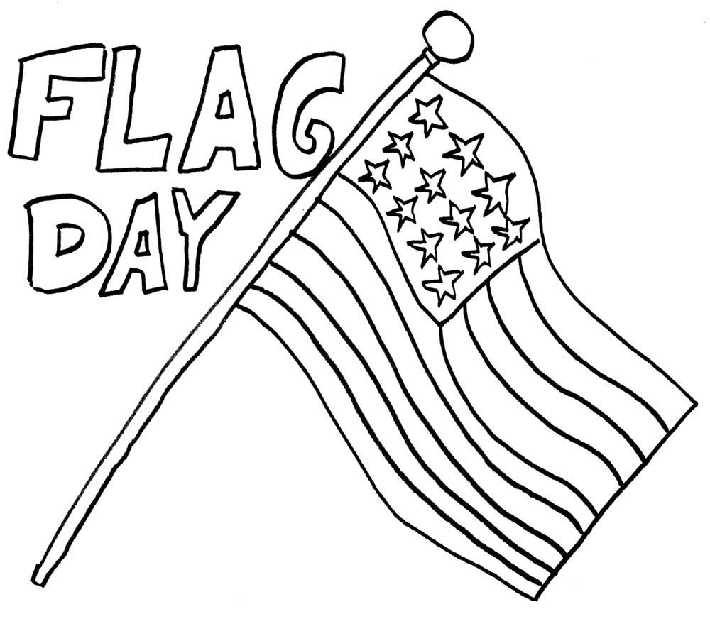 Happy Flag Day Coloring Page