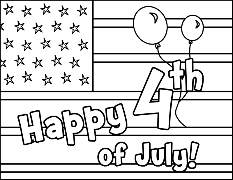 Happy July 4th Coloring Pages