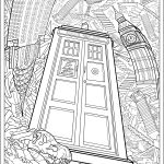 Hard Doctor Who Coloring Page