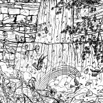 Hard Waterfall Coloring Pages