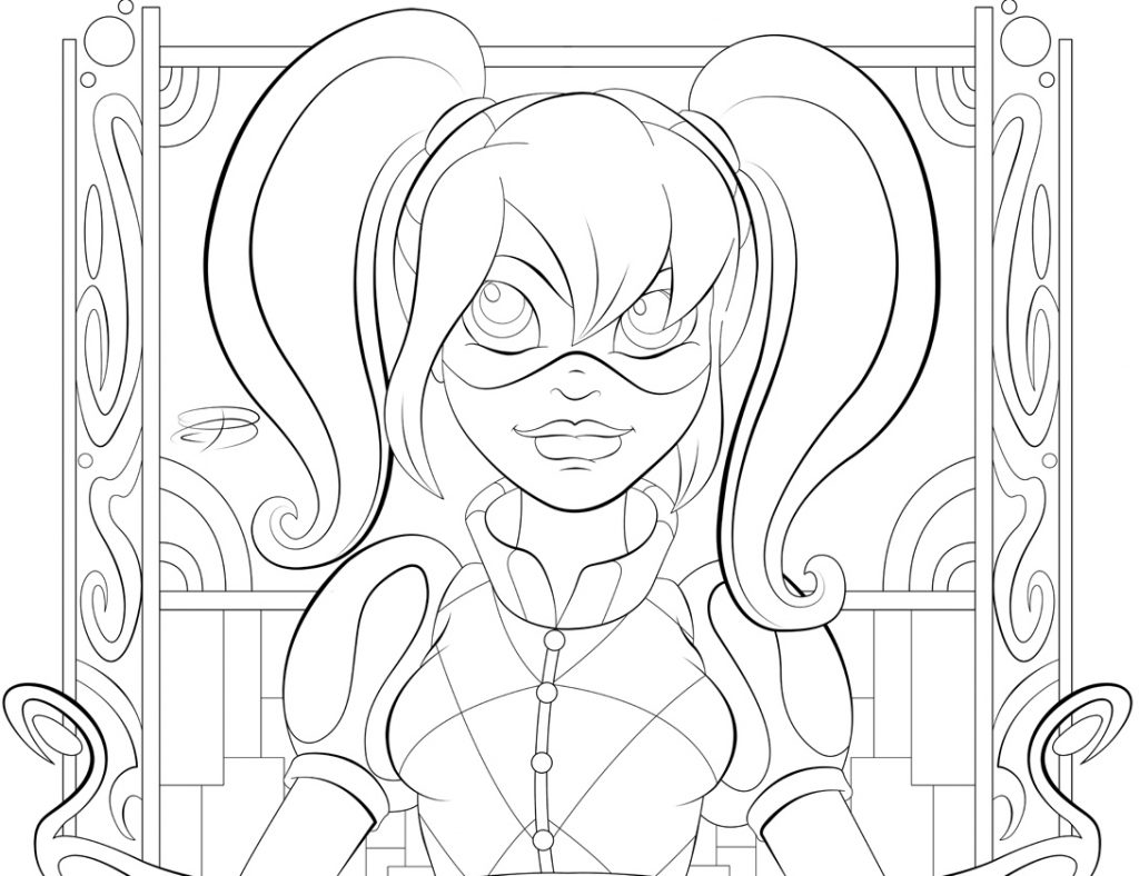 Harley Quinn DC Girls Coloring Pages