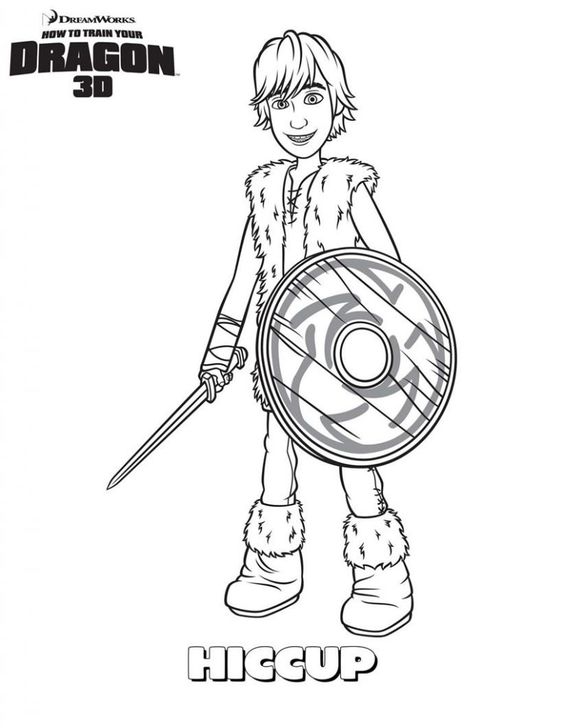 Hiccup - How to Train Your Dragon Coloring Page