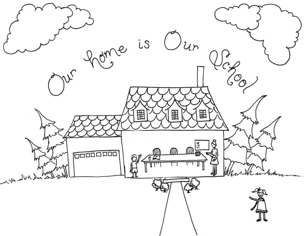 Homeschool Coloring Page