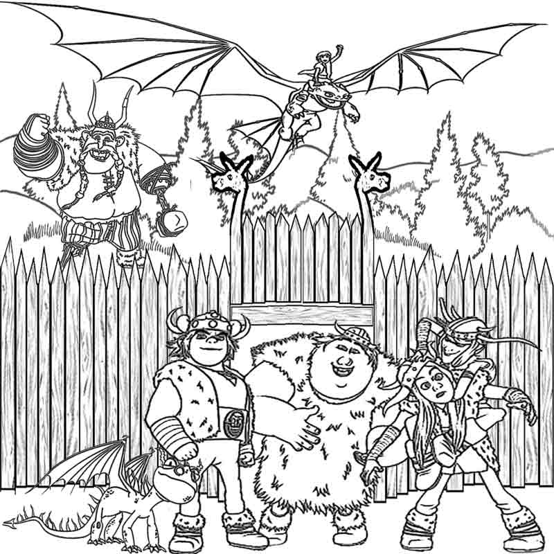 How to Train Your Dragon Coloring Pages - Best Coloring ...