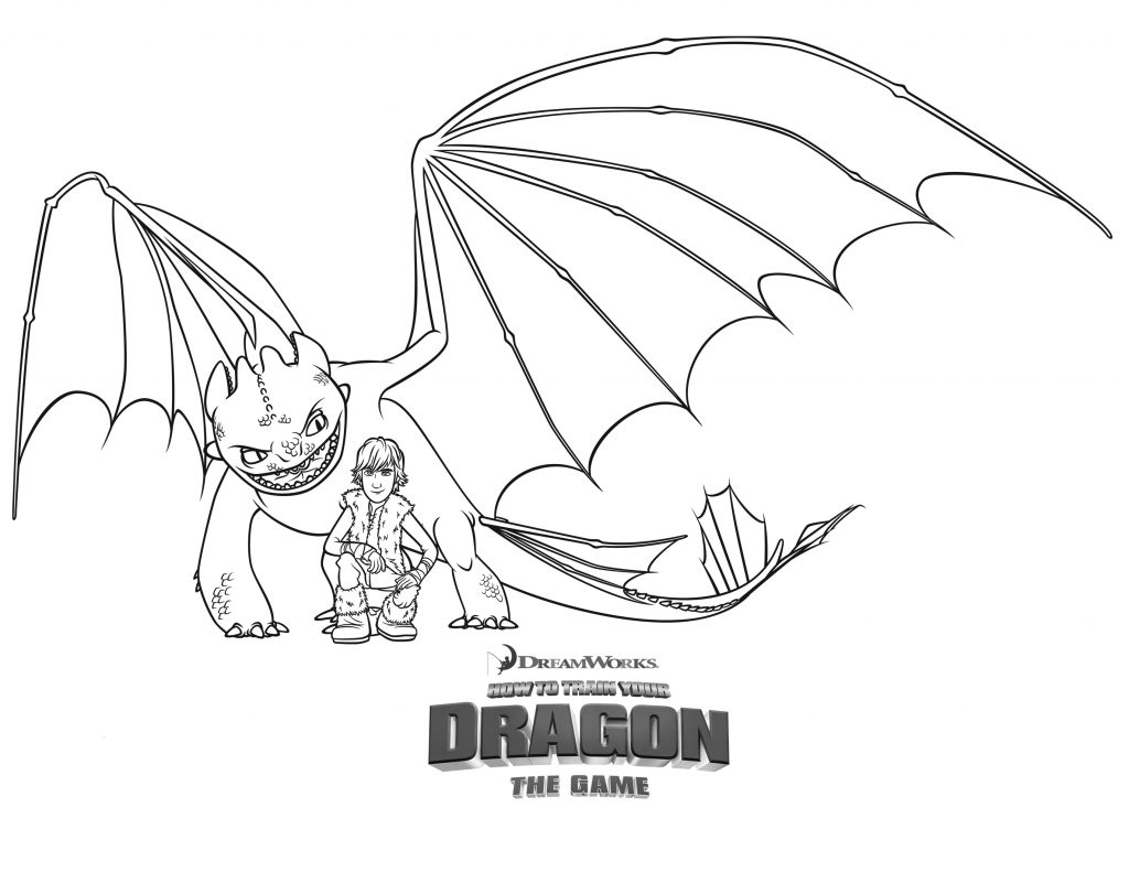 How to Train Your Dragon Game Coloring Page
