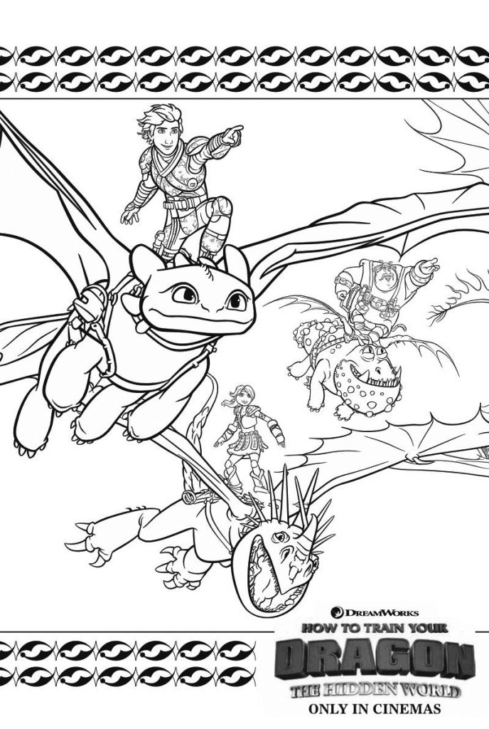 How to Train Your Dragon Movie Coloring Page