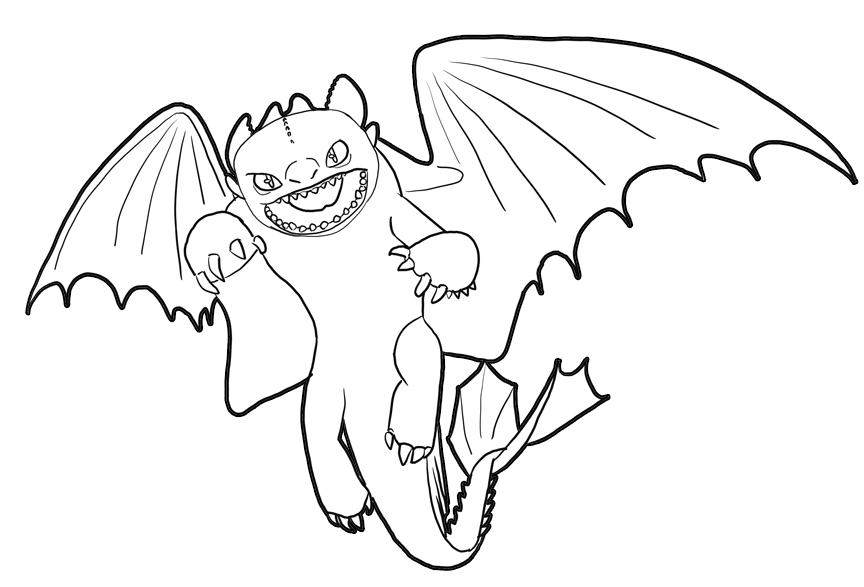 How to Train Your Dragons Coloring Pages
